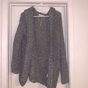 hooded knitted jacket